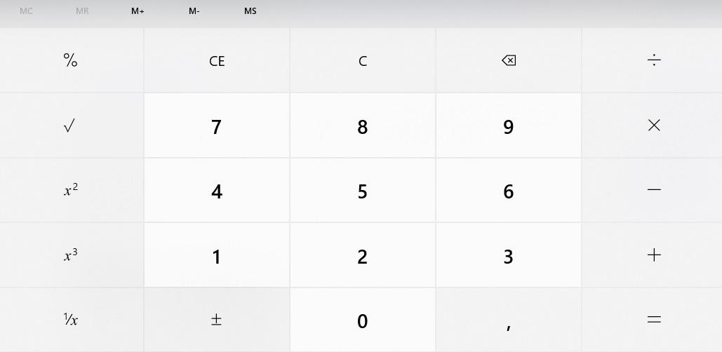 La Calcolatrice di Windows 10