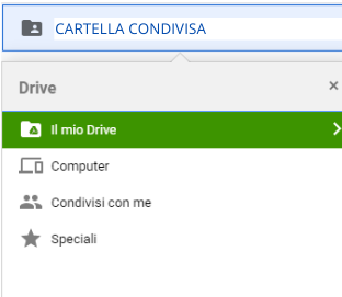 cartelle condivise drive